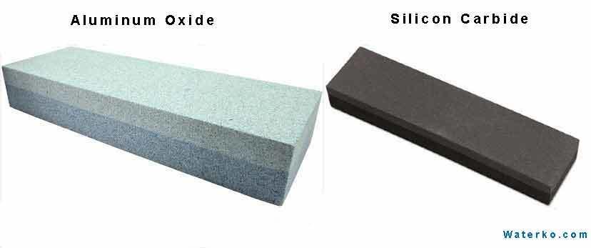 Aluminum oxide and silicon carbide stone