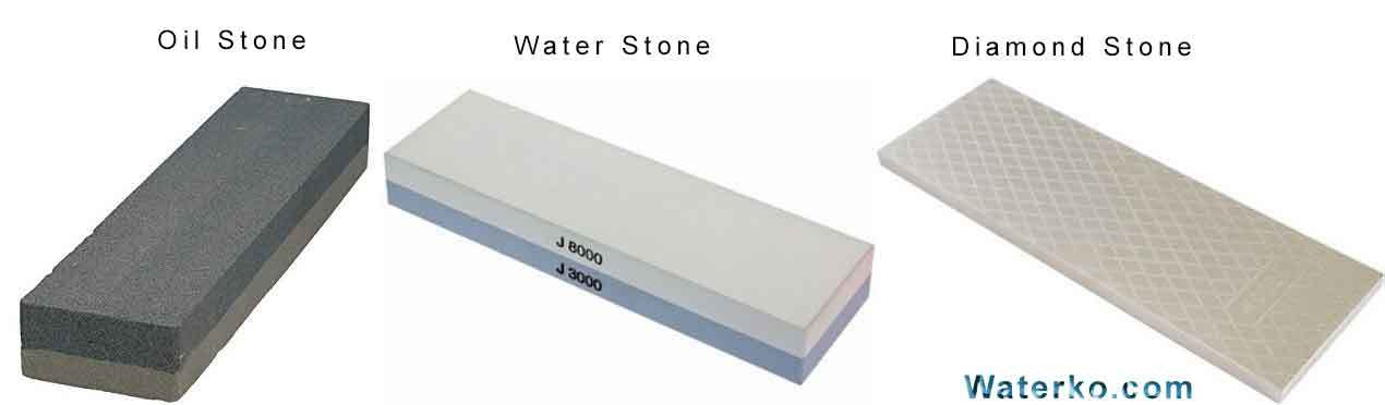 Types of sharping stone